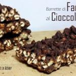 Barrette di Farro Soffiato al Cioccolato Fondente