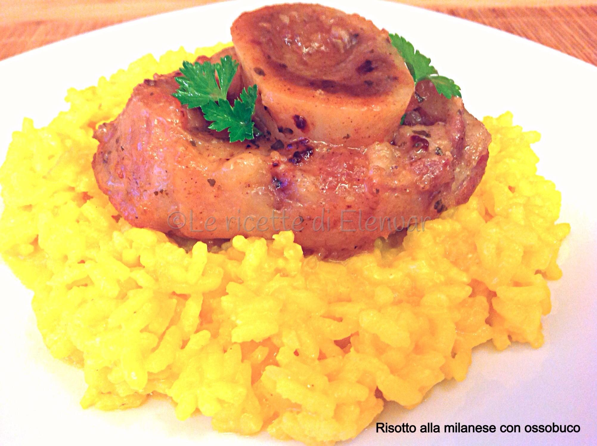 Risotto alla milanese con ossobuco for Cucinare ossobuco