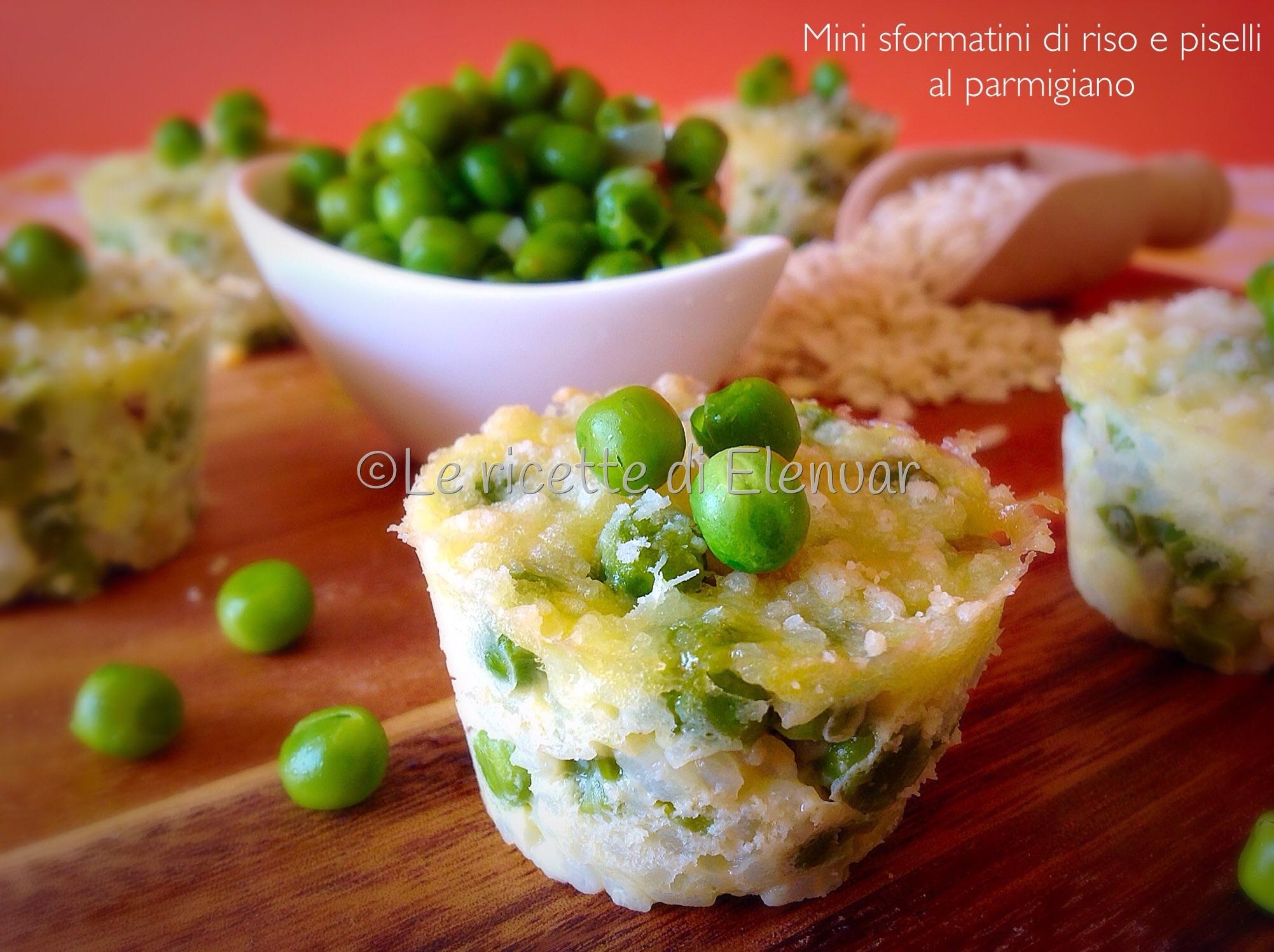 Mini sformatini di riso e piselli al parmigiano - Apericena cosa cucinare ...