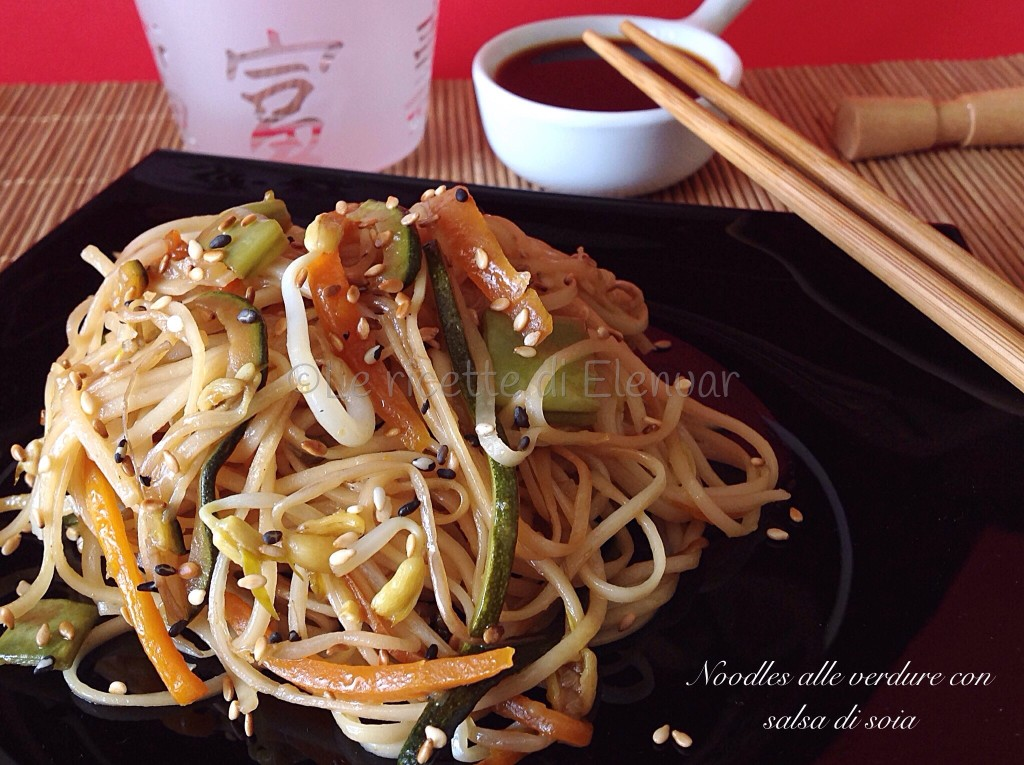 Noodles alle verdure con salsa di soia for Cucinare noodles
