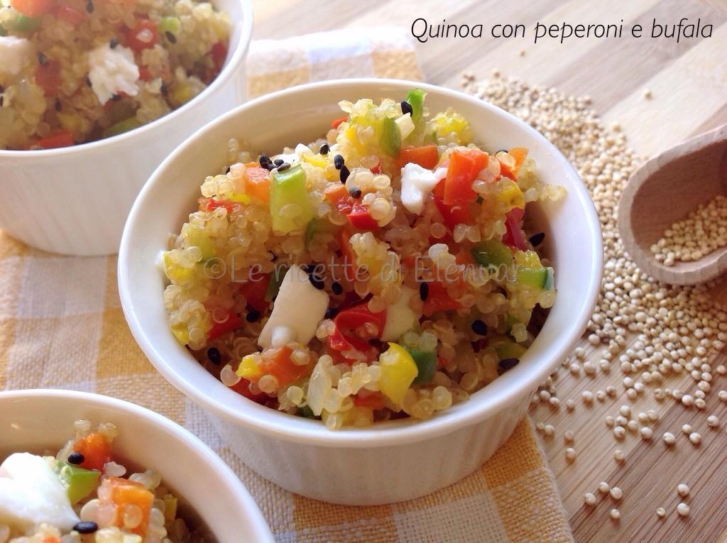 Quinoa peperoni e bufala
