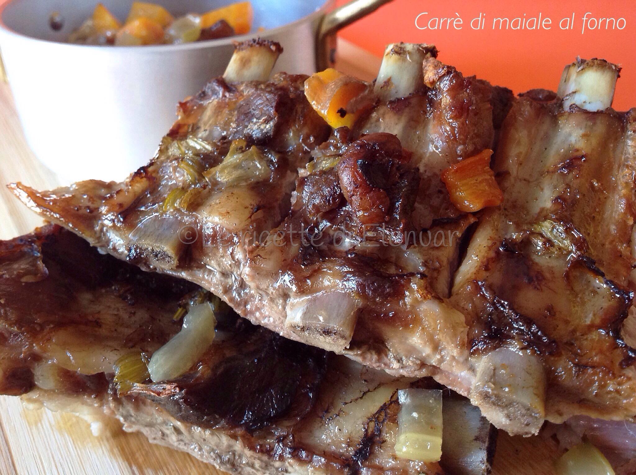Carrè di maiale al forno con verdure - Secondo piatto