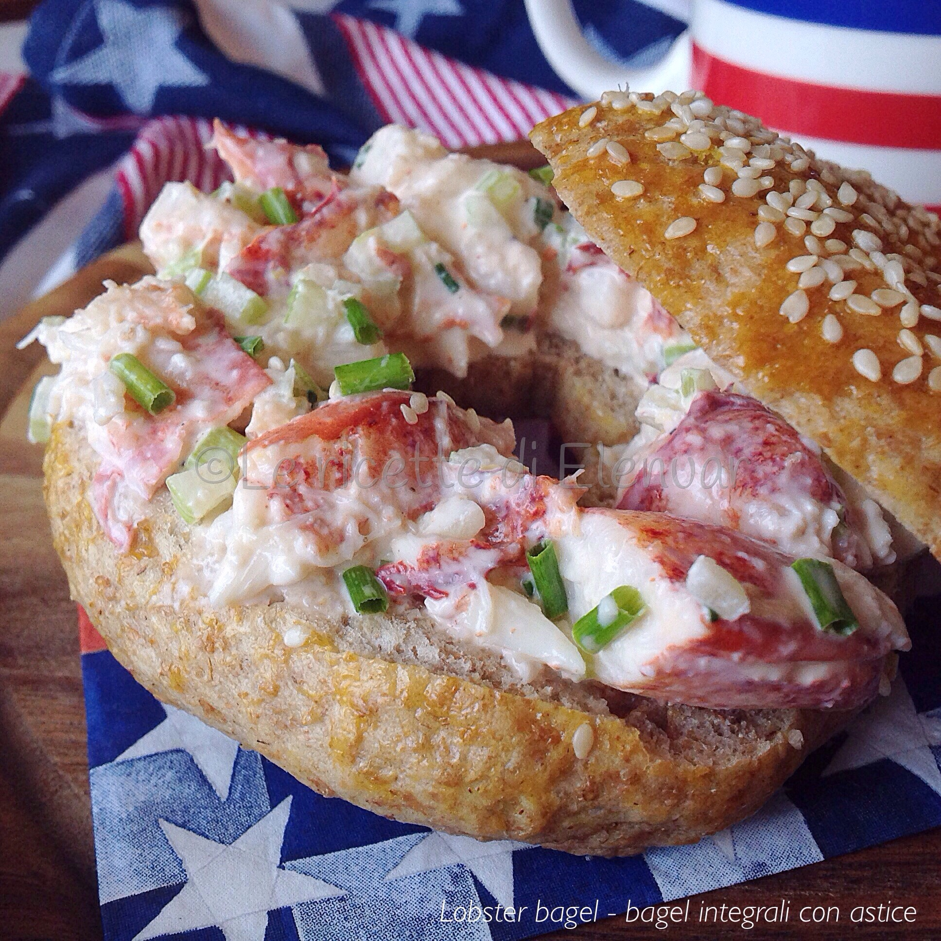 LOBSTER BAGEL - Bagel integrali con astice