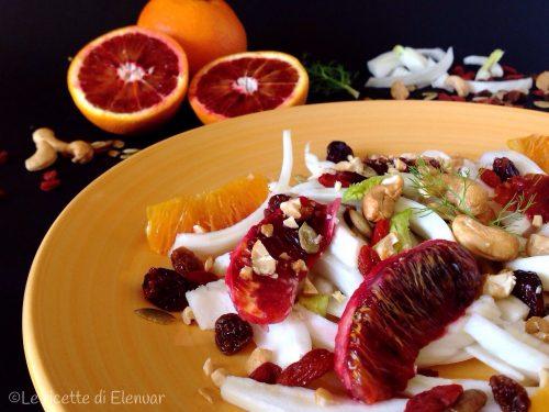 INSALATA DI FINOCCHI ARANCE BACCHE DI GOJI – Ricetta insalatona
