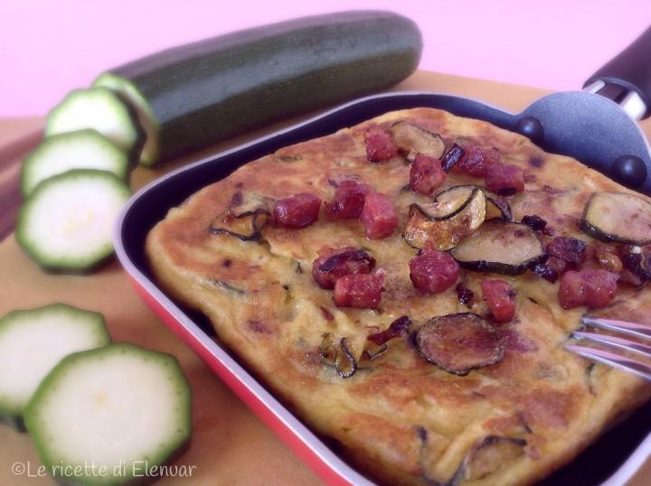 Frittata con zucchine e salsiccia