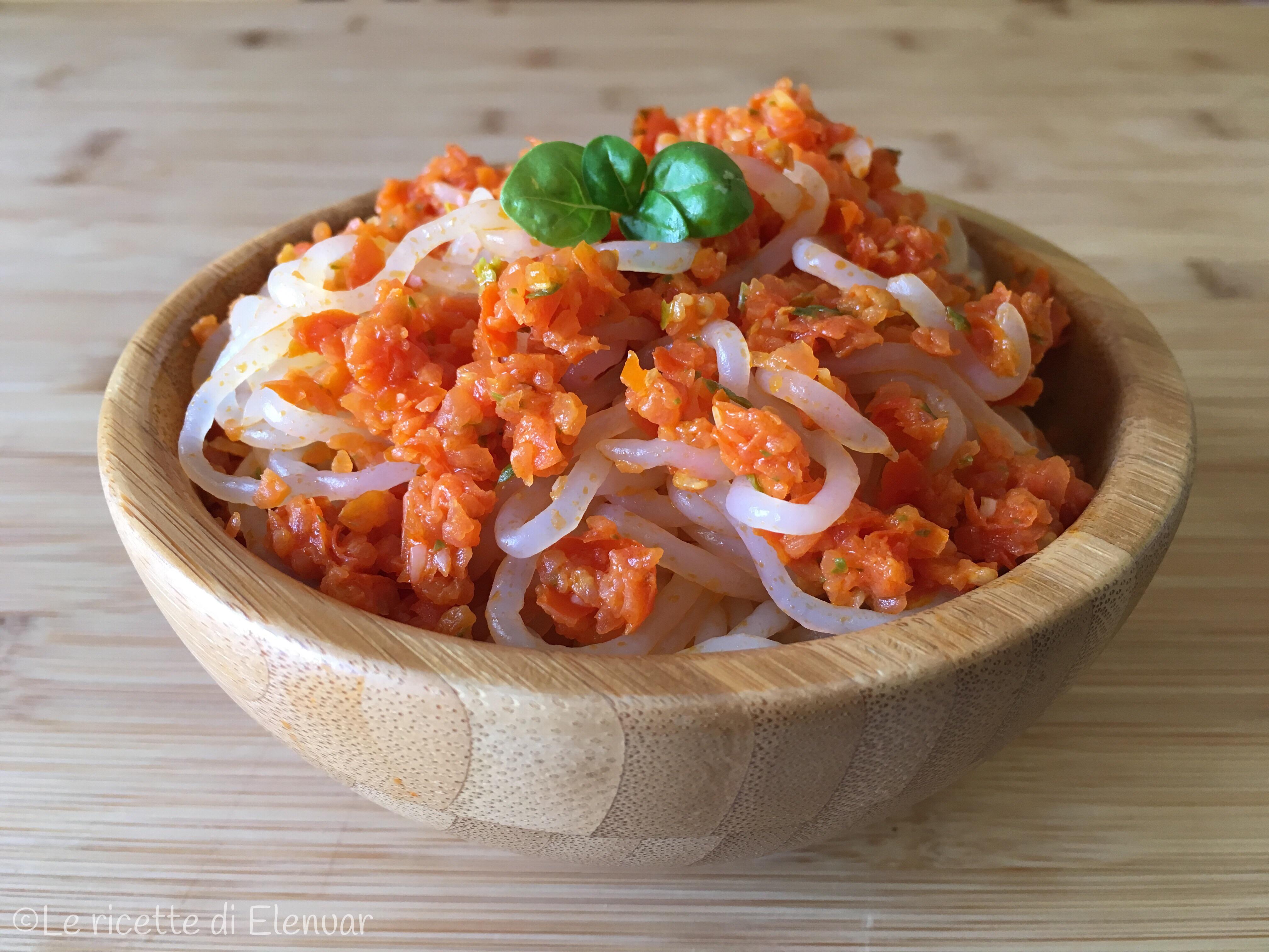 Shirataki con pomodorini e basilico ricetta senza glutine for Cucinare konjac