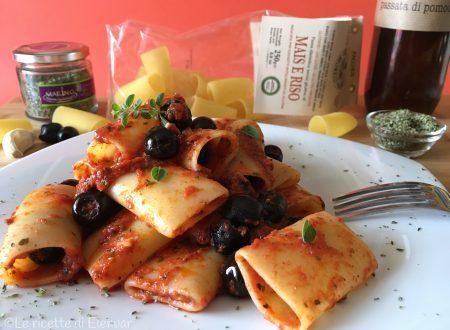 PACCHERI ALLA PIZZAIOLA – Ricetta senza glutine