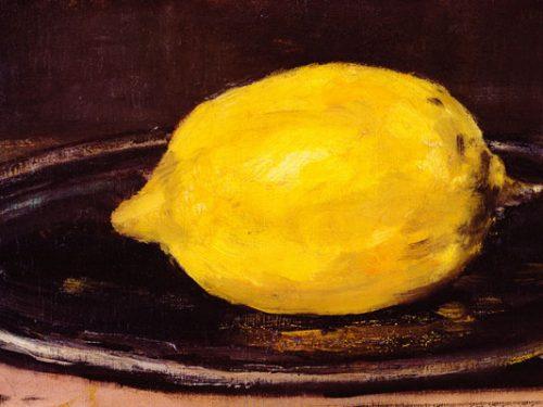 IL LIMONE DI EDOUARD MANET – Il cibo nell'arte