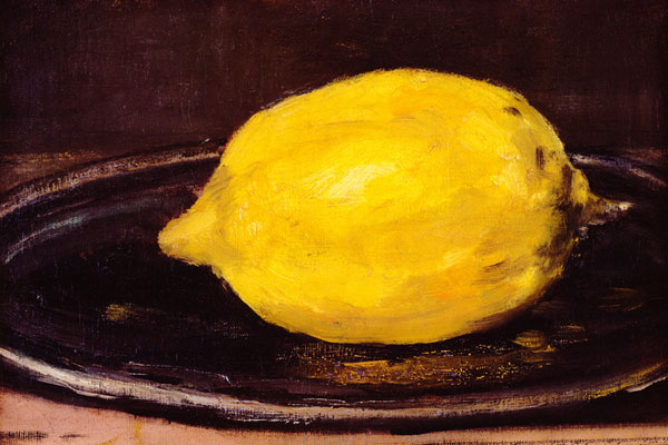 Il limone di Edouard Manet