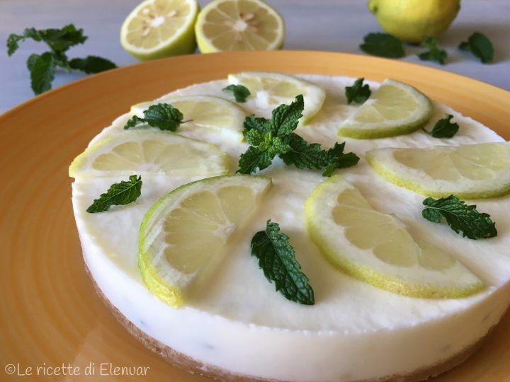 Torta fredda limone e menta