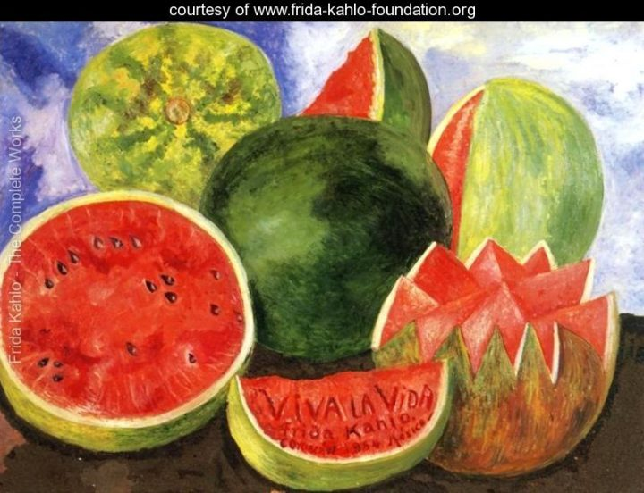 Le angurie in Viva la Vida - Frida Kahlo