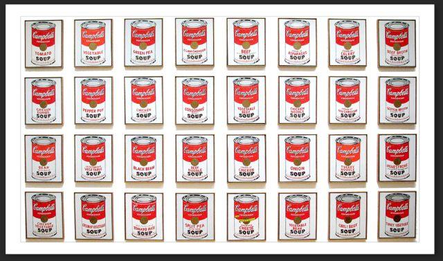 Andy Warhol - serigrafia delle Campbell's soup
