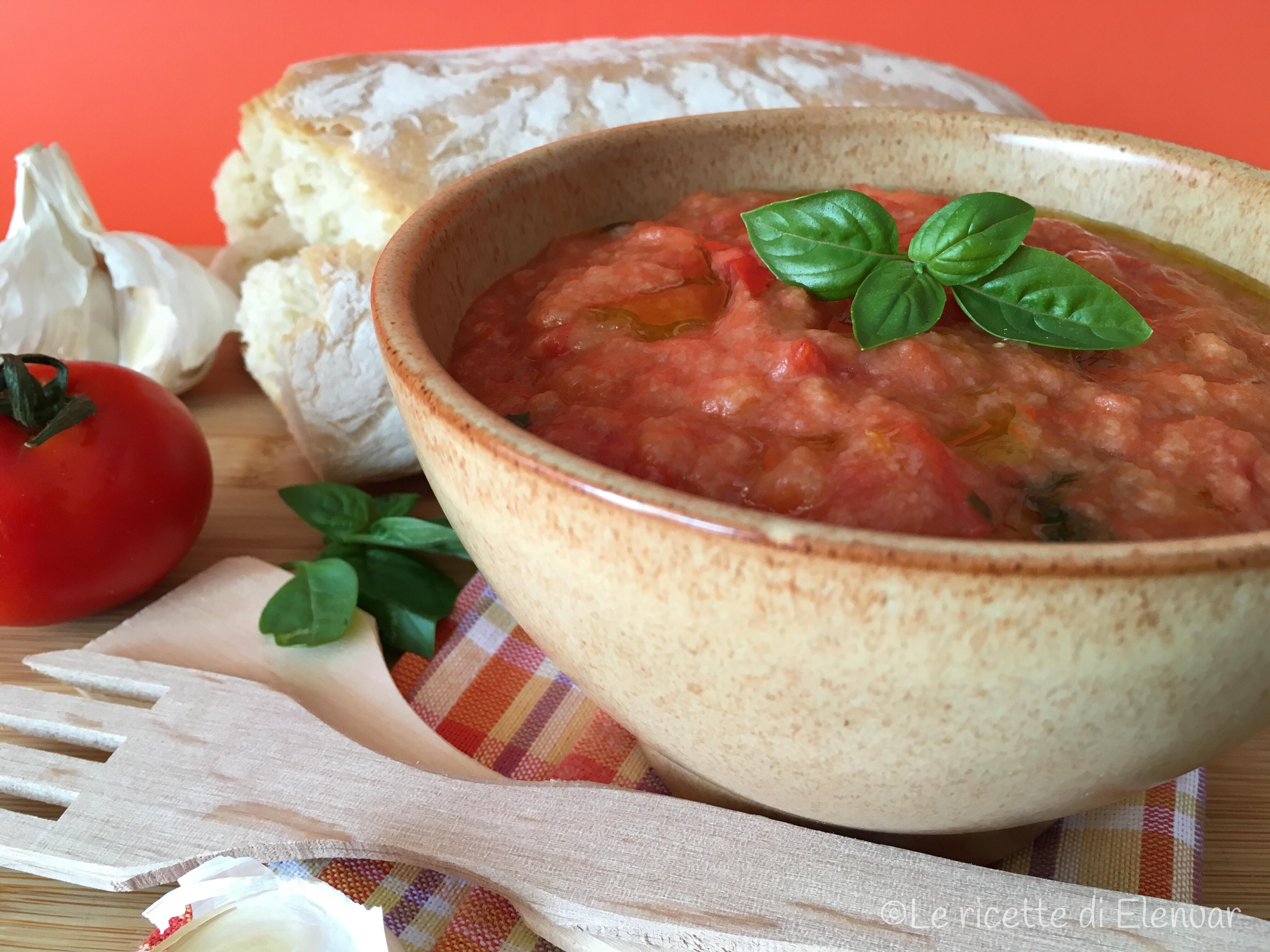 PAPPA AL POMODORO - Primo piatto - Ricetta tipica toscana