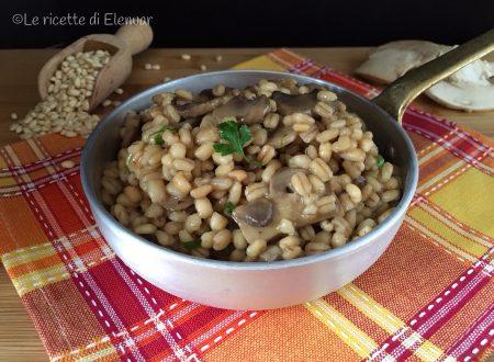 Orzotto ai funghi – ricetta primo piatto