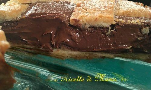 Crostata con Nutella che rimane cremosa dopo la cottura. Ricetta Infallibile