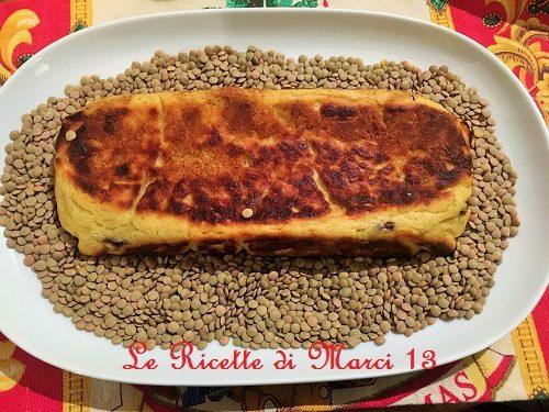 Plumcake di patate con lenticchie e provola. Ricetta facile