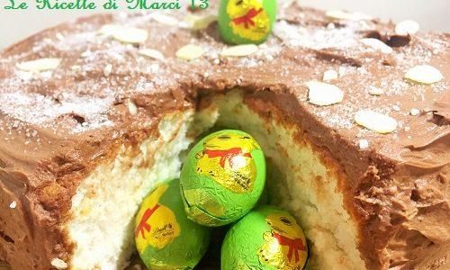 Angel Cake pasqualina con ganache al cioccolato al latte