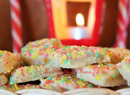 Funfetti shortbread alla vaniglia