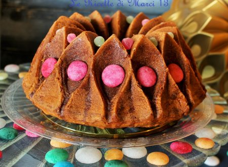 Bundt cake crown alla panna con glassa toffee