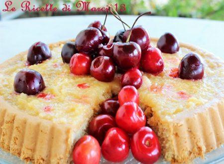 Torta furba alle ciliegie, con crema al limone
