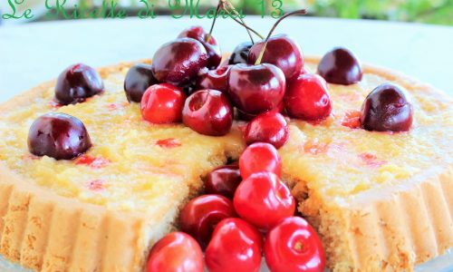 Torta furba integrale alle ciliegie e limone