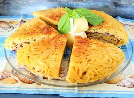 Spaghetti sandwich estivo. Ricetta facile.