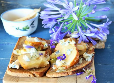 Open Sandwich Blue cheese and pear, per il Club del 27