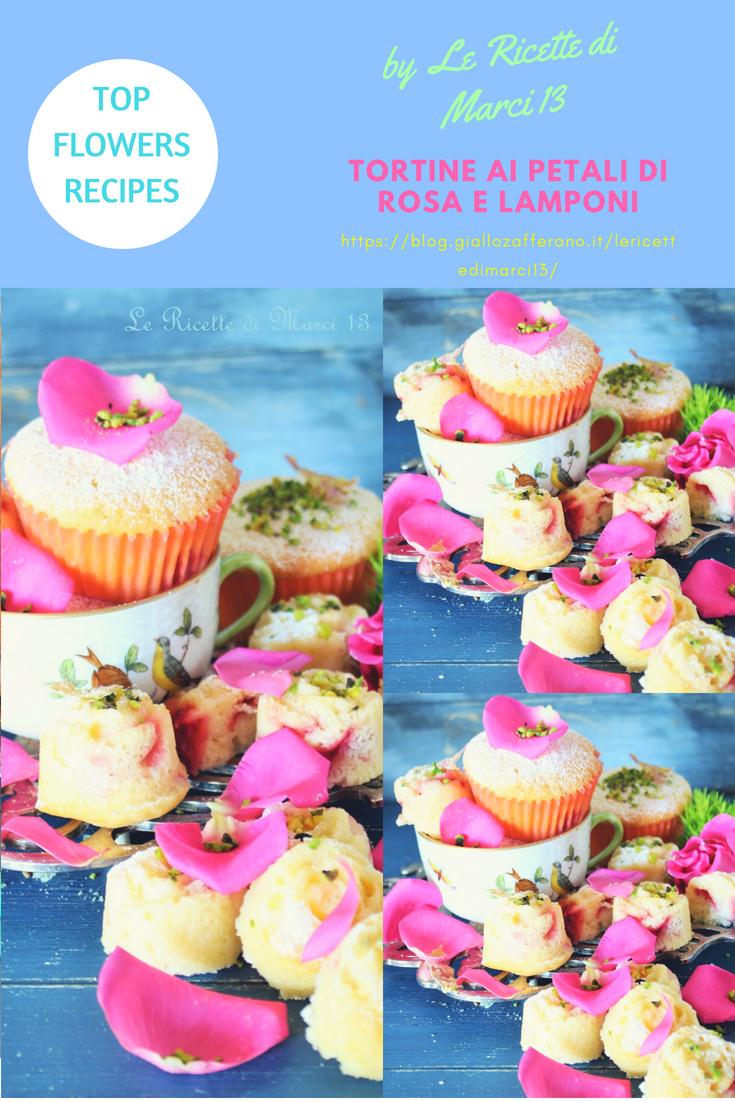 Tortine soffici ai petali di rosa