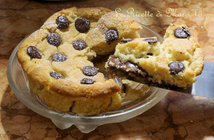 Tortino cookie alla nutella