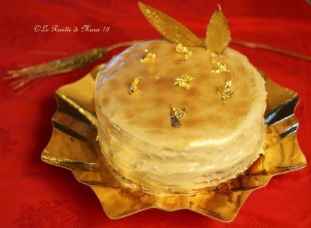 Victoria Sponge Cake con glassa alla vaniglia e crema di castagne