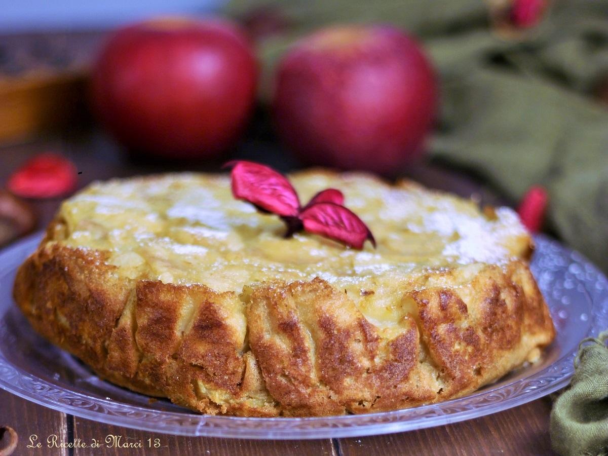 torta di mele e pere invisibile