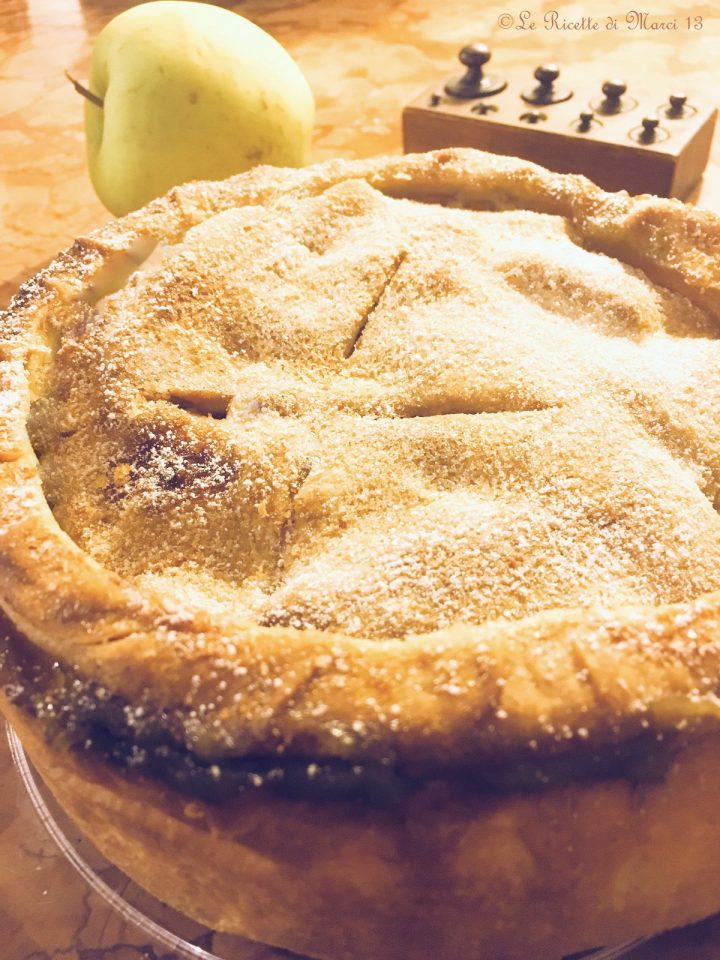 Apple pie al pistacchio