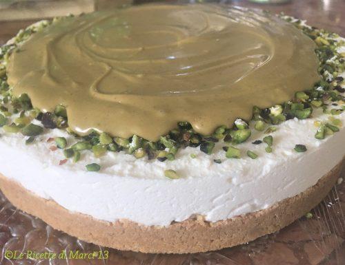 Cheesecake cremosa al pistacchio, senza cottura