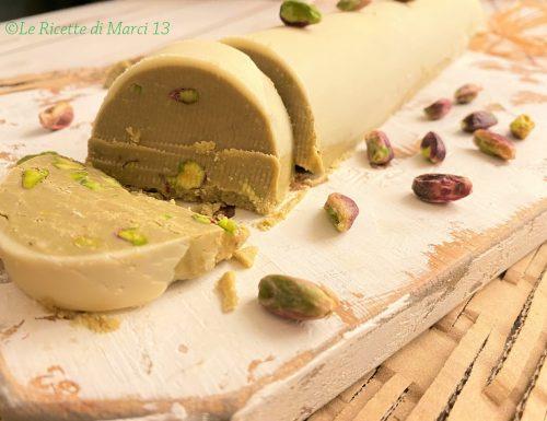 Torrone dei morti al pistacchio e cioccolato bianco