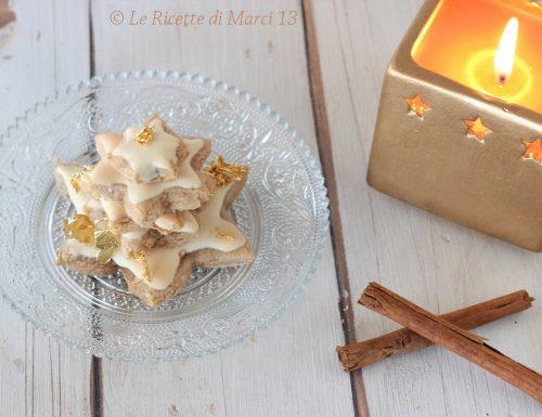 Zimtsterne, stelle di mandorle alla cannella. Ricetta originale senza glutine