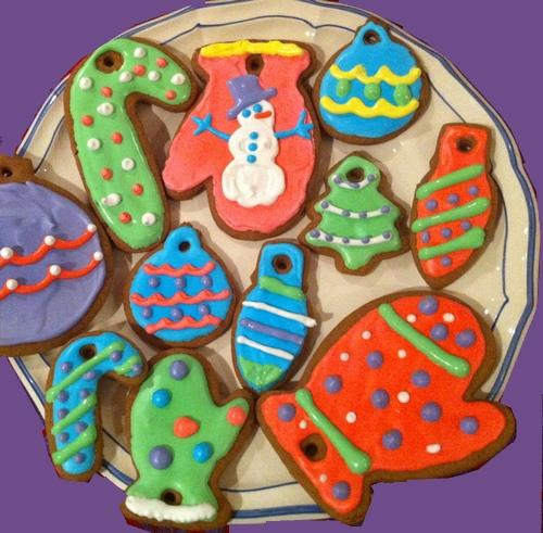 Biscotti pan di zenzero per decorare l'albero di natale 5