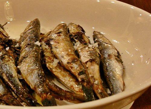 Acciughe o sardine a bagnomaria