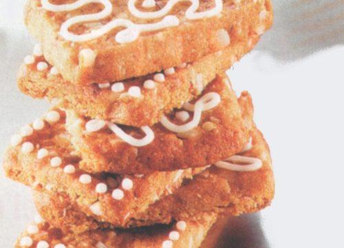 Biscotti gallette con glassa bianca