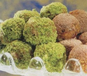Tartufi di pistacchi e biscotti