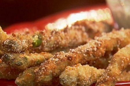 Asparagi fritti al prosciutto