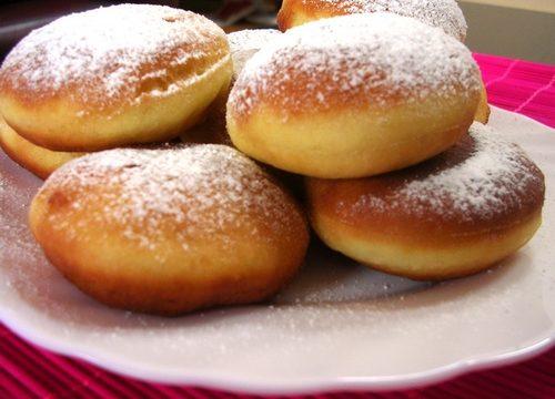 Krapfen al forno con crema pasticcera