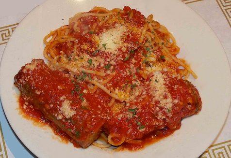 Spaghetti pomodoro e salsicce