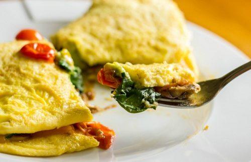 Omelette farcite con verdure