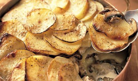 Timballo di patate ai porcini