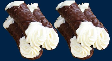 Cannoli alla panna e cioccolato