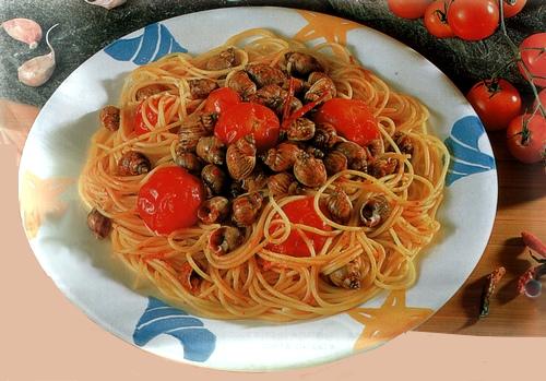 Spaghetti alle lumache di mare