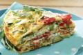 Torta di frittate con ricotta e broccoli