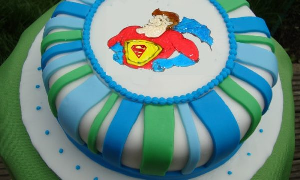 Torta festa del papà superman