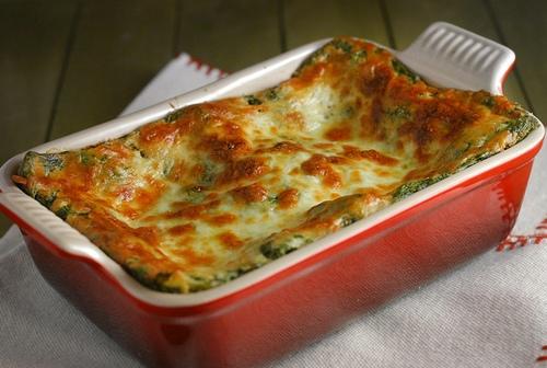 Lasagne verdi con farcia ai funghi