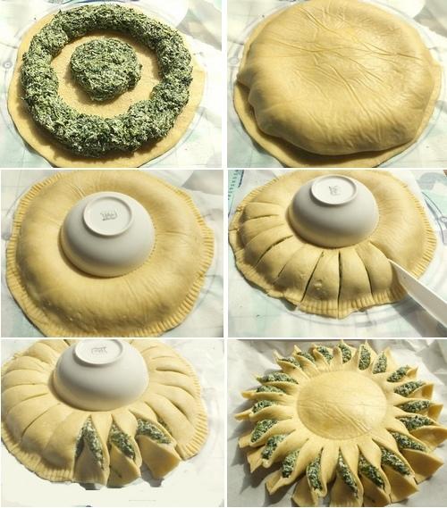 Torta salata girasole2
